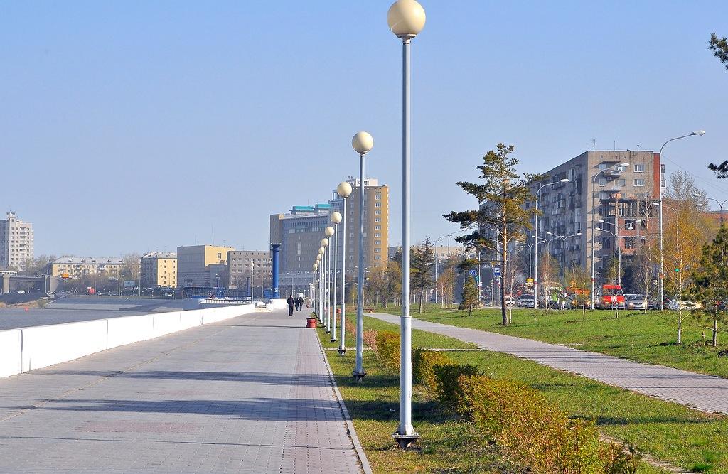 Набережная Иртыша - достопримечательности Омска
